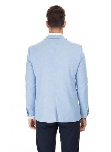 Buratti Buratti Klasik Yaka Erkek Ceket JAFET3480 Mavi